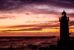 Lighthouse and a Man (HarQ Photography) Tags: sunset sea japan stormy aichi abigfave platinumphoto s5pro theunforgettablepictures saariysqualitypictures iragomisakicape bestcapturesaoi elitegalleryaoi