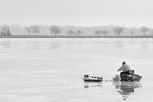 This Is the Wet Part of the Ice Fishing Season