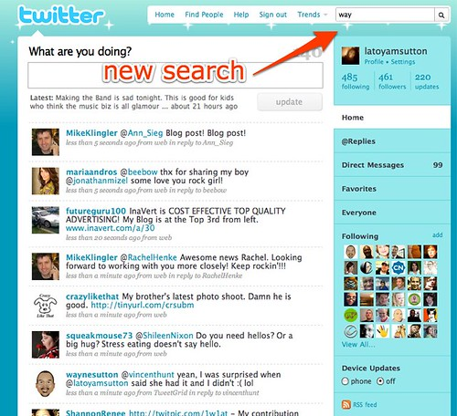 twitter new search