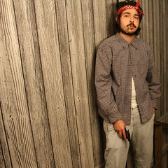 What (Christopher.R.Phelps) Tags: red grey gangster gun mexican bandanna cholo