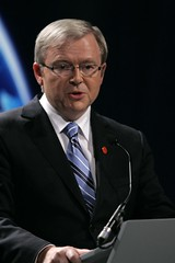 Prime Minister of Australia, Kevin Rudd addresses the world's media