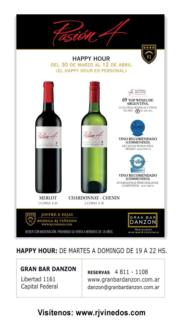 Buenos Aires: Pasion 4 Happy Hour en Gran Bar Danzón