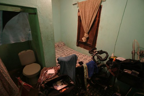 Humble room for the night in Somotillo, Nicaragua.