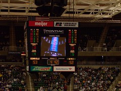 Only 4 Minutes Left... (point_cat35) Tags: basketball les university state michigan lansing msu center schools breslin cedarville cheneaux