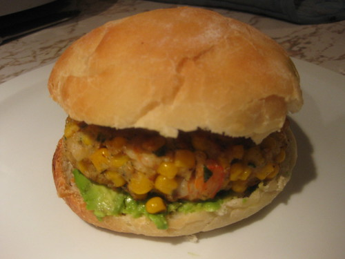 Shrimp and Corn Burger