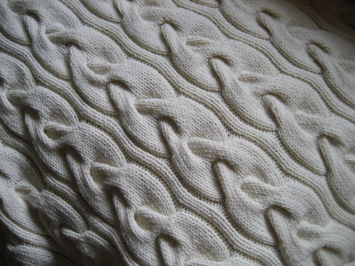 Giant Cable Baby Blanket by you.
