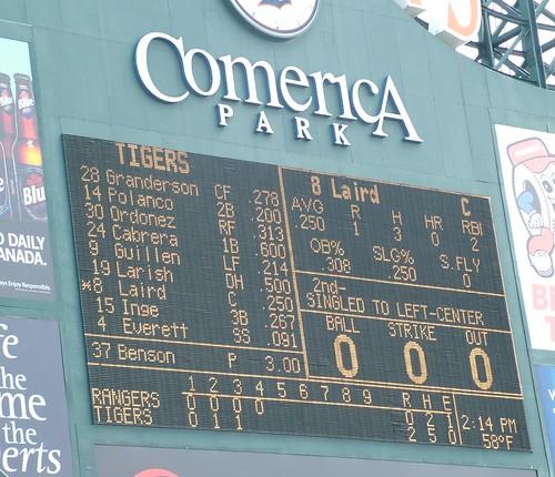 4th inning score