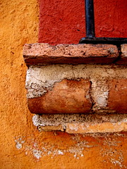 bit of window ledge (msdonnalee) Tags: orange abstract texture wall mexico ventana pared fenster  finestra mexique janela naranja mexiko arancia windowledge venster walldetail  abstractreality walltexture   colourartaward donnacleveland photosbydonnacleveland