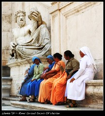 United Colors Of Vatican (~ Wamba ~  - [Lost & Busy]) Tags: travel roma monument 510fav monumento explorer nun nuns suora statua suore meltinpot explored rubyphotographer roma09