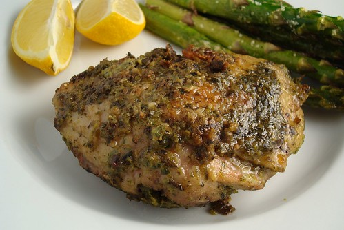 Spring Chicken with Green Marinade