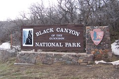 Entering Black Canyon of the Gunnison National...