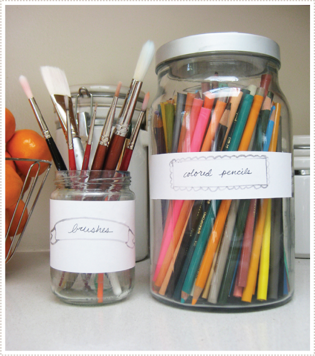 Organizing With Pretty Labels