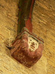 Perpendicular head corbel. All Saints - Middleton Cheney