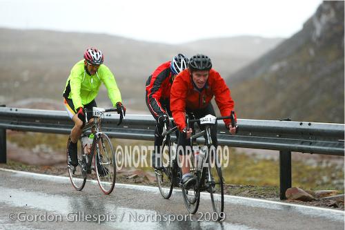 Ian riding up Bealach-na-ba