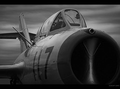 Sabre Hunter (~Clubber~) Tags: canon airplane fighter artistic aircraft aviation airshow midget mig mig15 fagot mig15uti mikoyangurevich rissian 40d