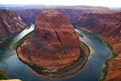 Colorado river horseshoe ! near Page AZ (pfala) Tags: voyage travel sunset summer arizona river riviere canyon rafting page coloradoriver marblecanyon horseshoebend pagearizona mywinners arizonatravel colorphotoaward pfala paulfala