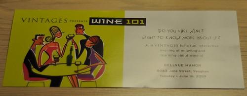Vintages Wine 101