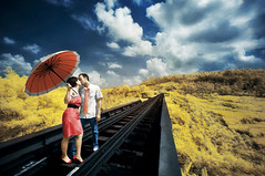 just you and i.......................... (yoga - photowork) Tags: sky canon indonesia ir photography 350d couple angle wide infrared romantic 1022mm prewedding inspiredbylove
