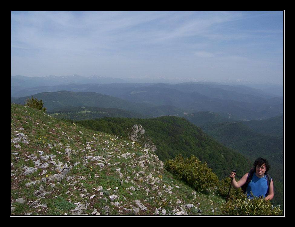 En la cima del Remendía (1386 m.)