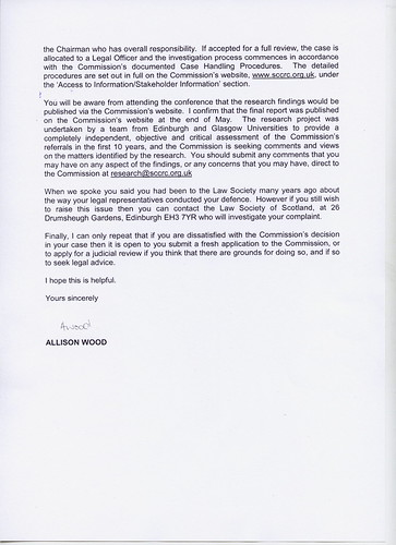 Reply From Kenny MacAskill SCCRC Dossier Page 2