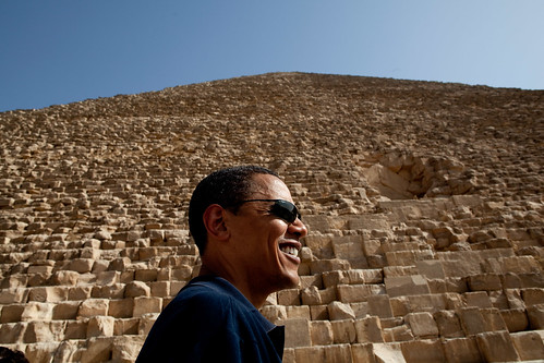President Barack Obama tours the Pyramids of Giza in Egypt on June 4, 2009. (Official White House photo by Pete Souza)