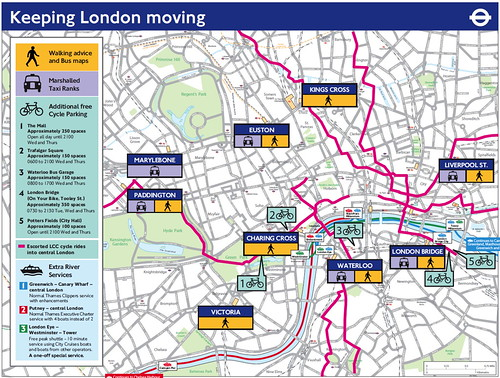 TfL's 'Keeping London Moving' map