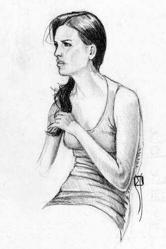 chica sentada II