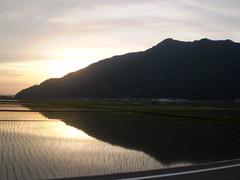 夕暮れの鷲ヶ岳