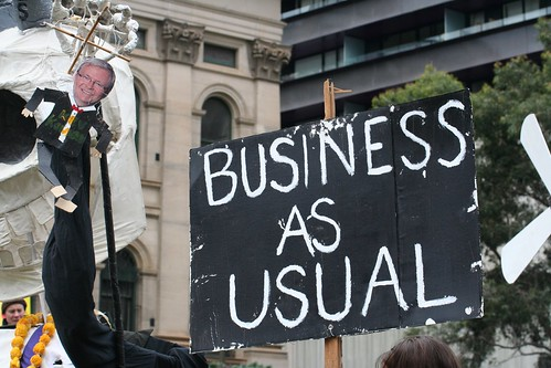 Rudd Government Carbon Pollution Reductions Scheme means Business as Usual