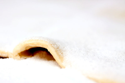Palmiers #1: puff pastry covered in sugar
