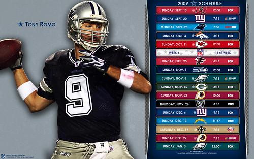 2009 Dallas Cowboys NFL Schedule Wallpaper