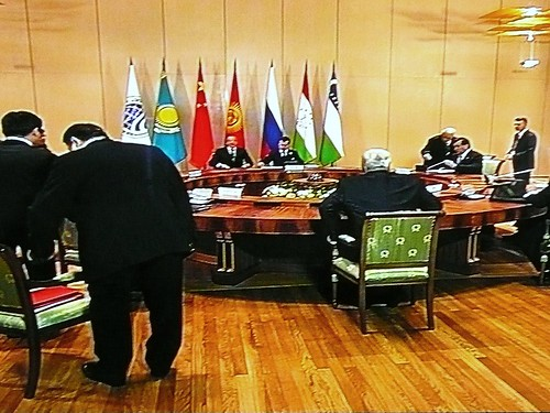 Presidents getting ready for the SCO Heads of State Council meeting