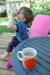 Coffee-boo on the morning deck