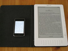 Kindle DX en iPod Touch