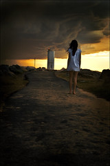 The Unknown (.Brooke Henshall) Tags: lighthouse canon path stormy eerie unknown mistery 400d aplusphoto brookehenshall