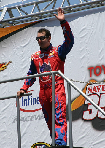 Kyle Busch at driver introductions at Infineon Raceway. Photo Credit: ME