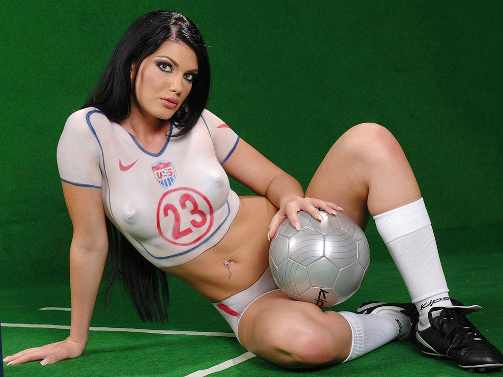 Soccer Body Painting Women