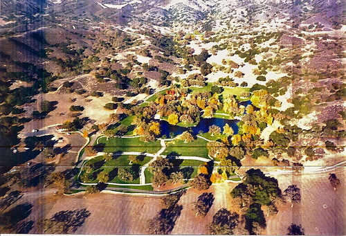 Neverland Ranch areal view