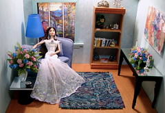 Ahhh, this is the life ! (Spicyfyre Creations) Tags: blue fashiondoll fr diorama blueroom jasonwu fashionroyalty kyroi