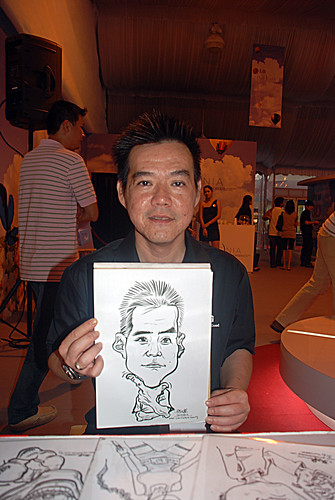 caricature live sketching for LG Infinia Roadshow - day 2 -2