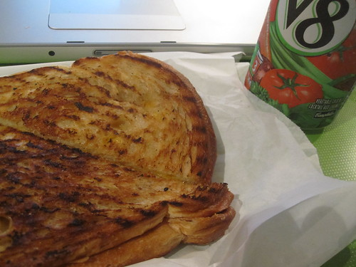 grilled cheese, V8 from Pasta café - $5