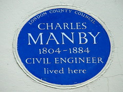 Photo of Charles Manby blue plaque