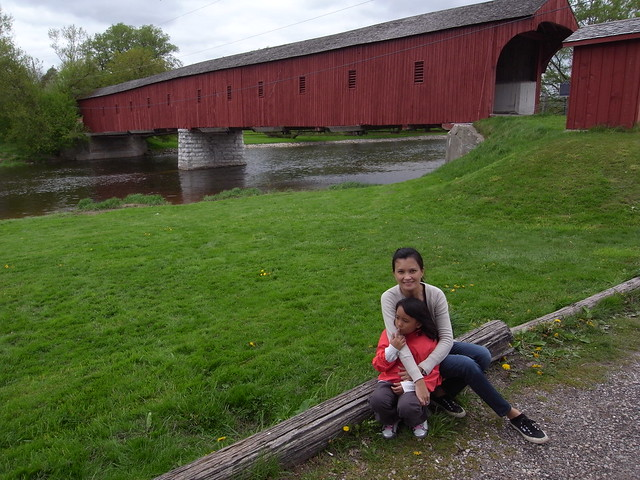 The only covered bridge in Ontario