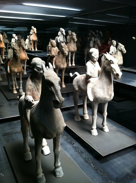 mini terracotta cavalry