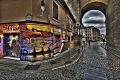 Street art (Robin100) Tags: urban art graffiti spain arch cobbled espana granada hdr hdrawards