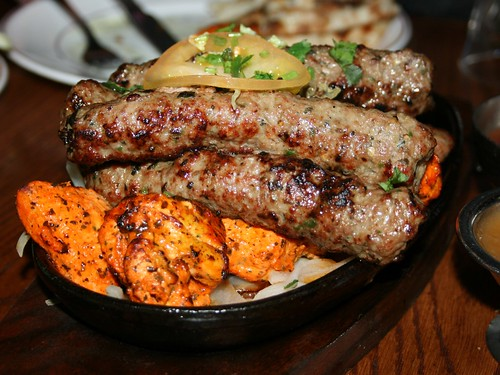 Seekh kebabs and chicken tikka at New Tayyabs