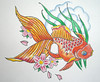 Japanese Goldfish 1.10.09 Watercolor on