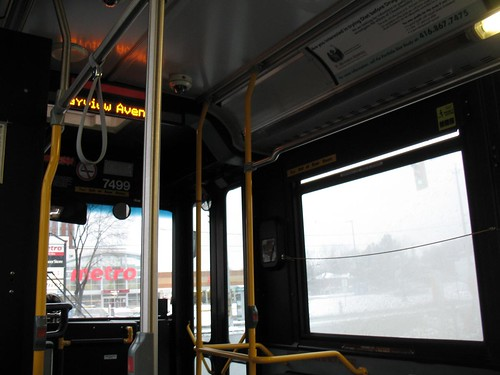 On the Bus at Bayview and Eglinton (First Photo of 2009)