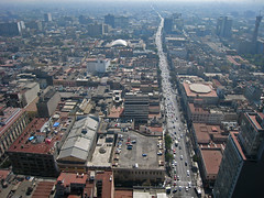 Looking South (beeffaucet) Tags: mexico df arial torrelatinoamericana