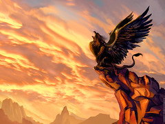 Leon Alado / winged lion (Rafael Edwards) Tags: sunset monster rock book wings tales cuento libro silo story ave alas scream mito winged allegory grito griffin tale myth grifo cuentos mitologico wingedlion alegoria mithological leonalado rafaeledwards grargoyle eldiadelleonalado